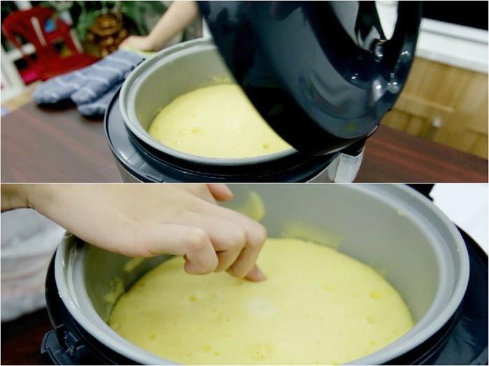 Cách làm bánh gato bằng nồi cơm điện 4