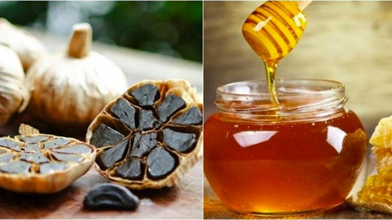Ngâm tỏi đen với mật ong