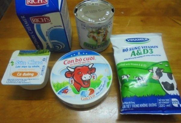 Nguyên liệu làm sữa chua phô mai