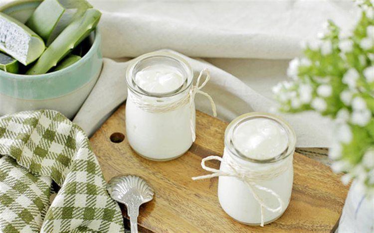 Cách làm sữa chua nha đam sánh mịn ngon mê ly 2