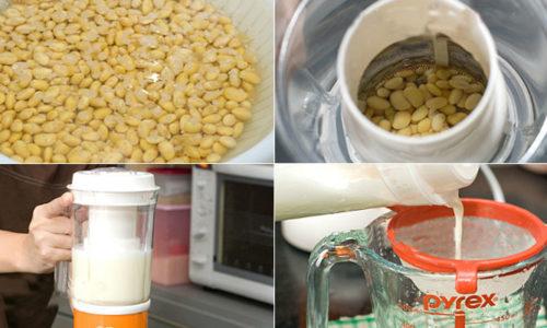Bật mí cách làm sữa đậu nành bằng máy xay sinh tố