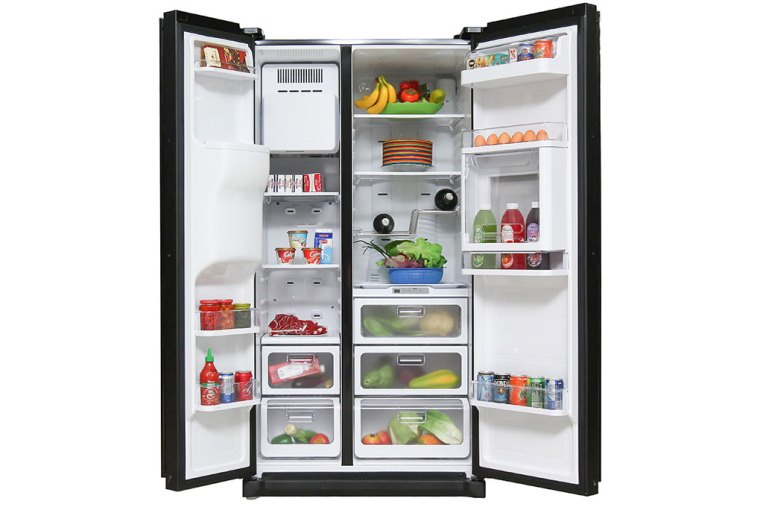 Tủ Side by Side có dung tích lớn, chứa được nhiều thực phẩm