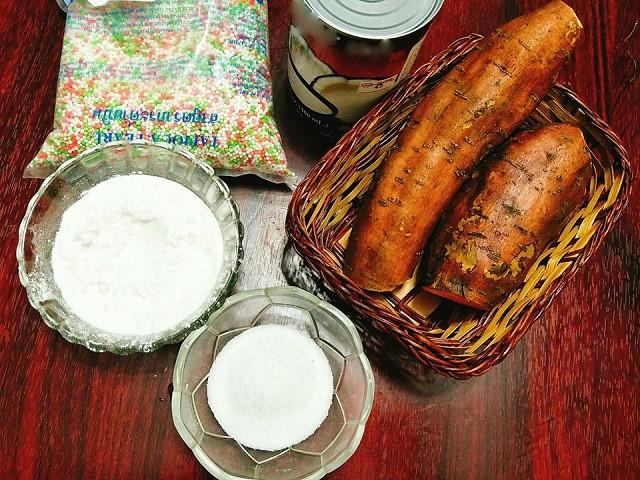 Nguyên liệu để nấu món chè khoai lang