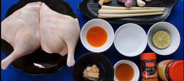 Nguyên liệu vịt nướng chao