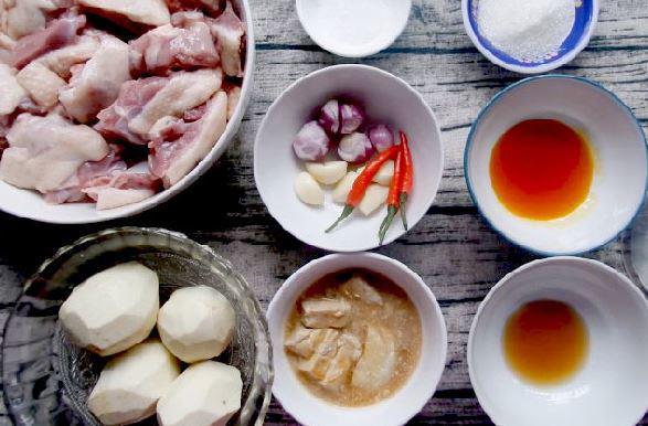 Nguyên liệu làm món vịt nấu chao