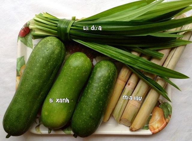 Nguyên liệu  nấu sâm bí đao giảm cân