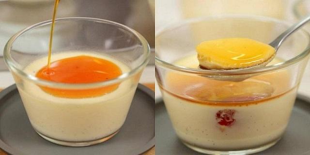 Làm Pudding trứng trong trà sữa
