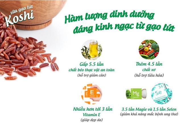 Nguồn dinh dưỡng chứa trong gạo lứt