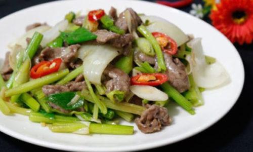 Cách xào thịt bò với cần tây thơm ngon, bổ dưỡng