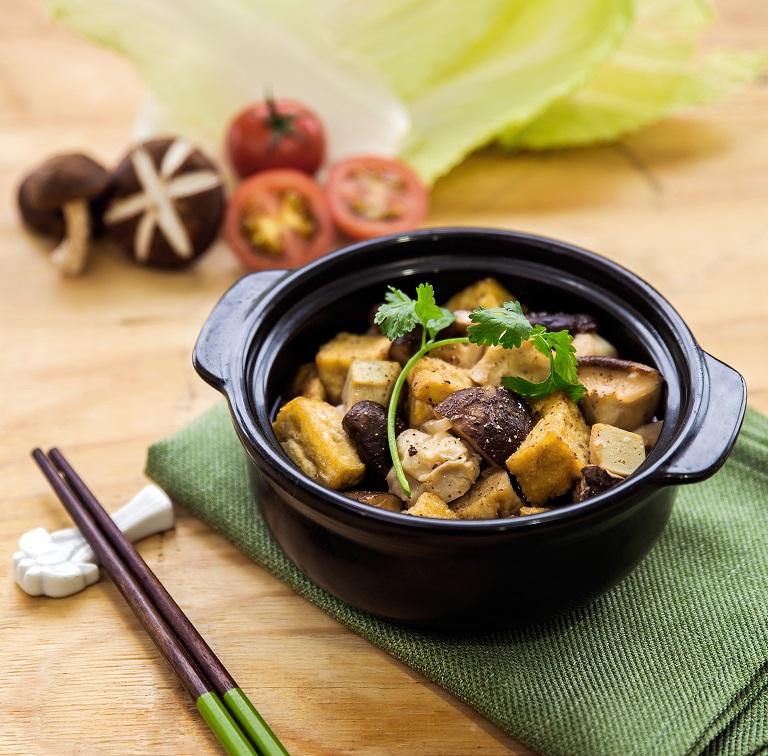 Món đậu phụ kho nấm