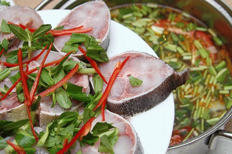 Món lẩu cá bớp được rất nhiều gia đình ưa chuộng