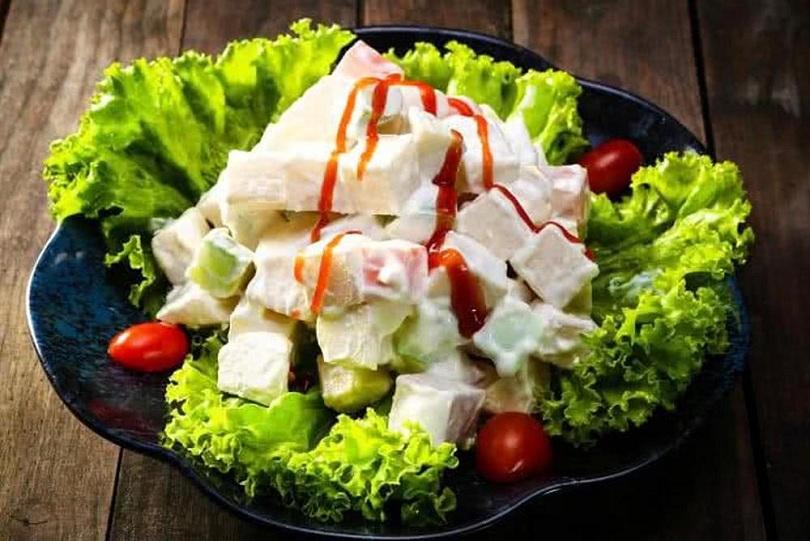 Salad rau trộn sữa chua hấp dẫn