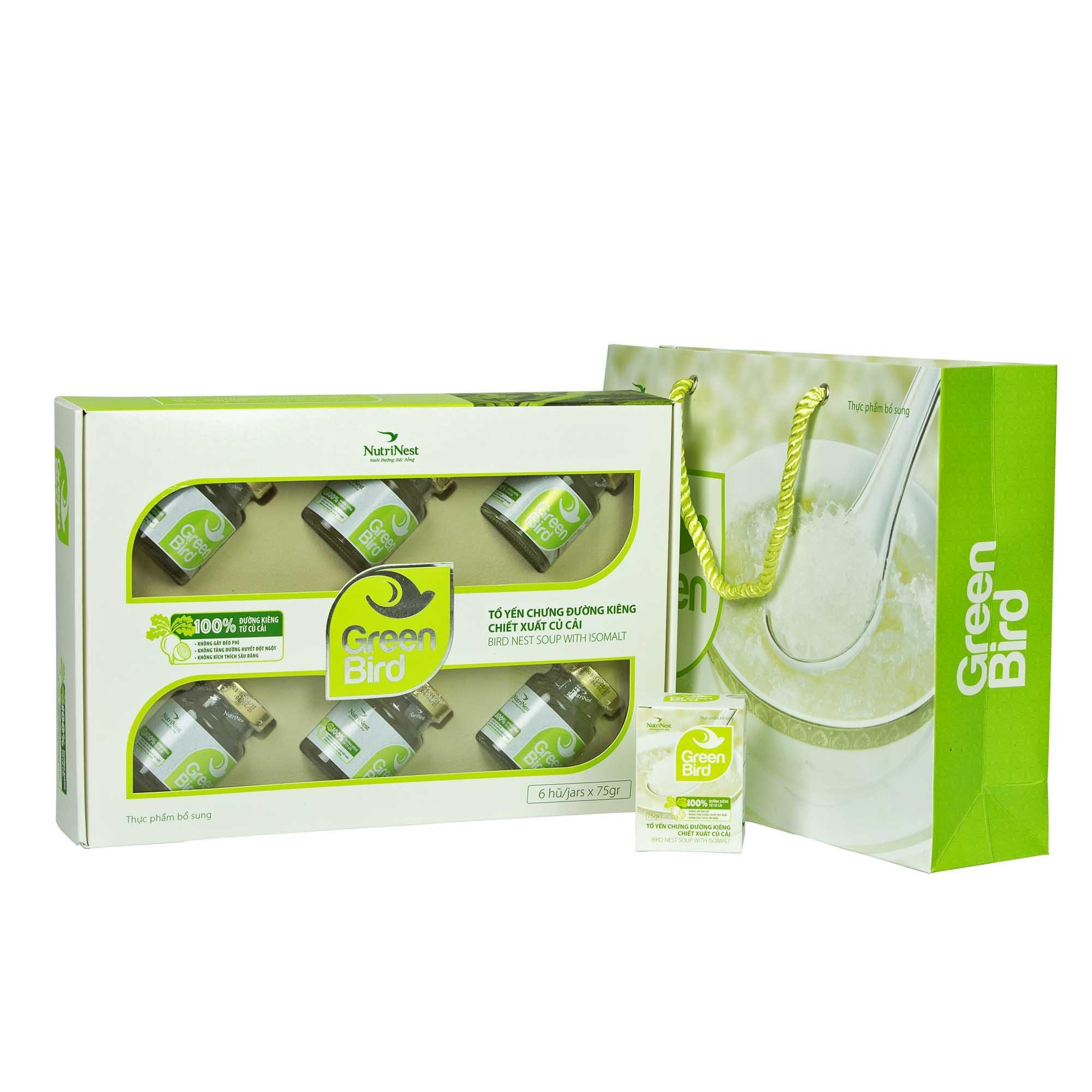 Green Bird - nước yến sào chưng đường phèn