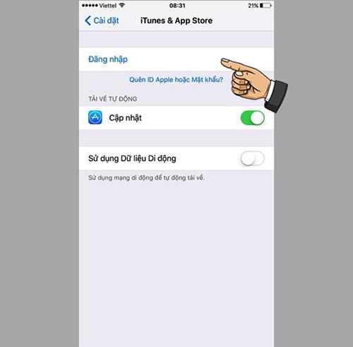 Đăng nhập App Store