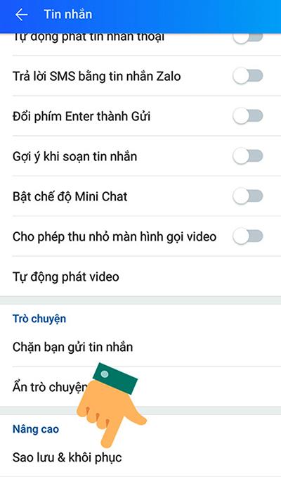 Cách khôi phục tin nhắn Zalo đã xoá trên điện thoại - 3