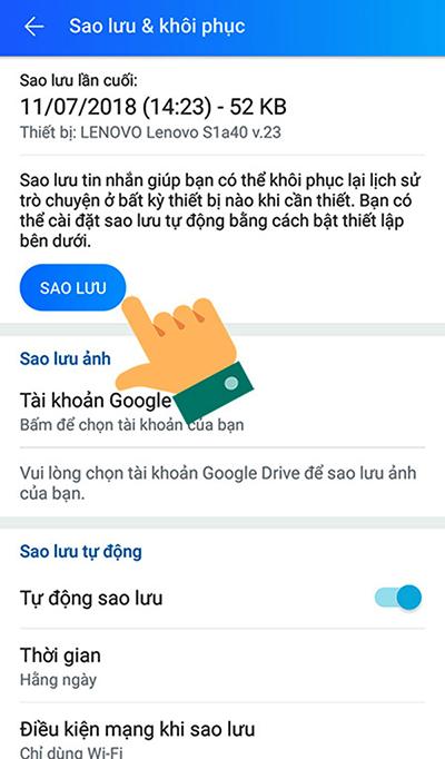 Cách khôi phục tin nhắn Zalo đã xoá trên điện thoại - 5