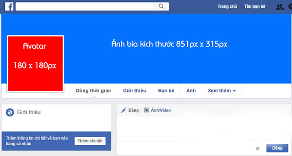 Kích thước avatar Facebook tiêu chuẩn