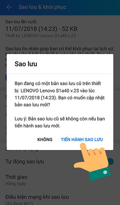 Cách khôi phục tin nhắn Zalo đã xoá trên điện thoại - 6