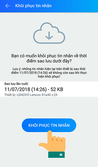 Cách khôi phục tin nhắn Zalo đã xoá trên điện thoại - 8