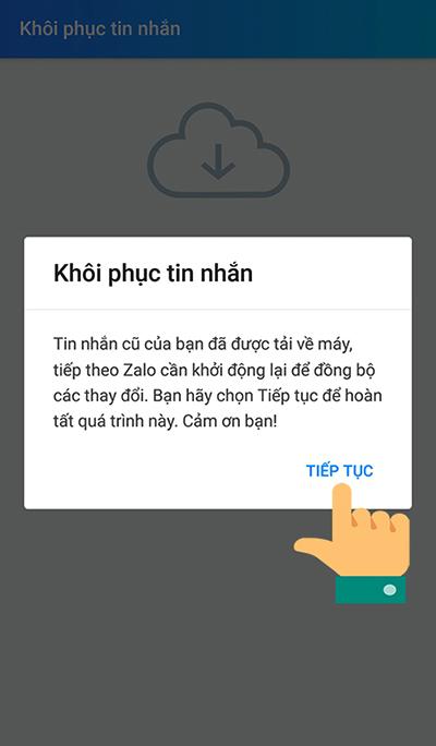 Cách khôi phục tin nhắn Zalo đã xoá trên điện thoại - 9