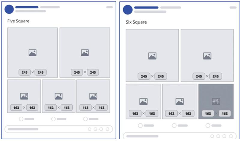 Hiển thị 5 và 6 hình vuông