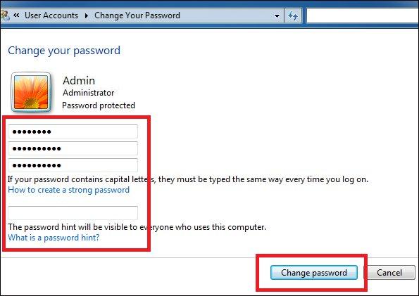 Cách cài mật khẩu máy tính chạy Windows 7, 8, 8.1, 10 13