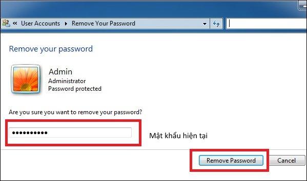 Cách cài mật khẩu máy tính chạy Windows 7, 8, 8.1, 10 15