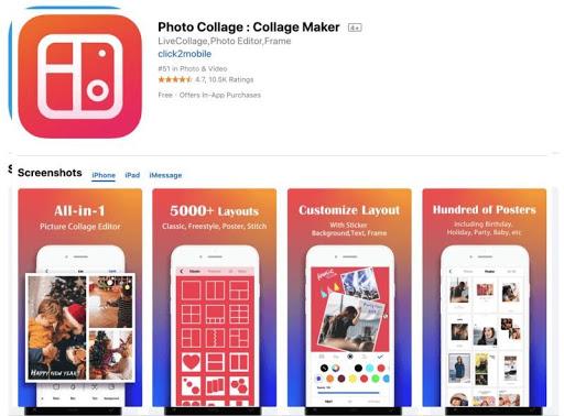 Ứng dụng phần mềm Photo Collage