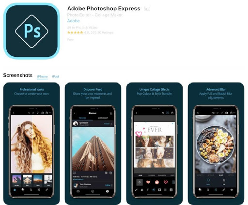 Ứng dụng phần mềm Adobe Photoshop Express