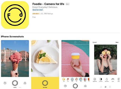 Ứng dụng phần mềm Foodie
