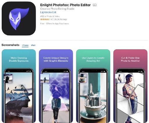 Ứng dụng phần mềm Enlight Photofox