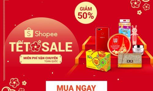 Shopee Tết - Giảm đến 50% - Miễn phí vận chuyển 7