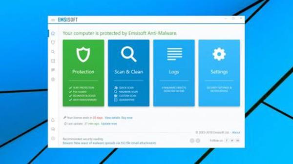 Phần mềm Emsisoft Anti-Malware
