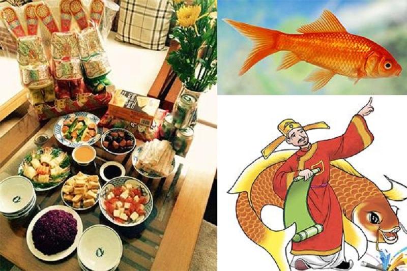 Trong truyền thuyết, Táo quân sẽ cưỡi cá chép hóa rồng về trời.