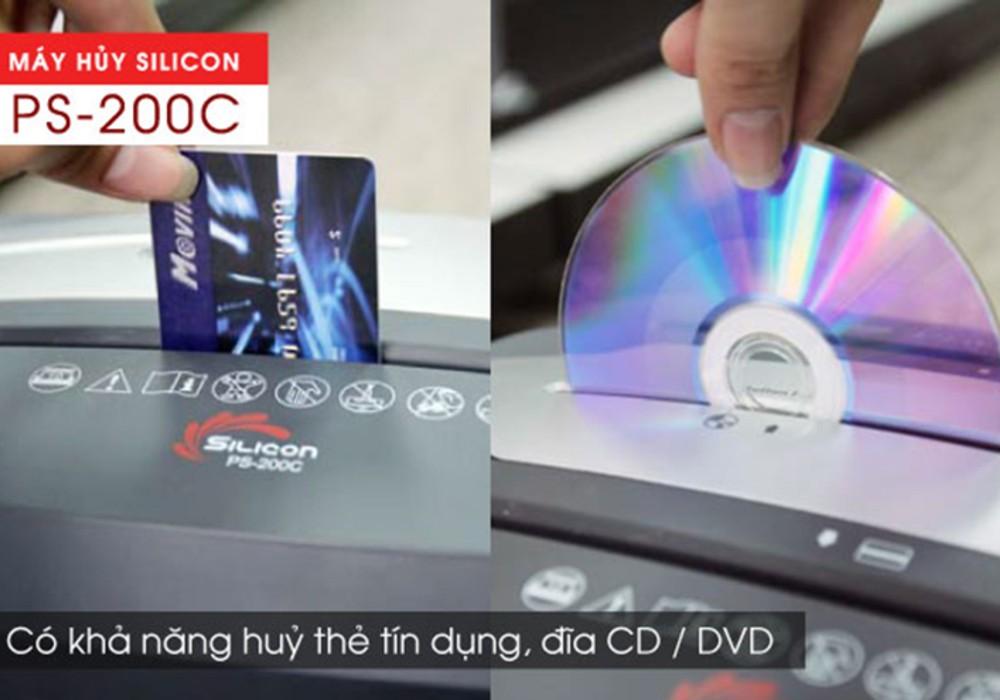 máy hủy tài liệu thẻ CD