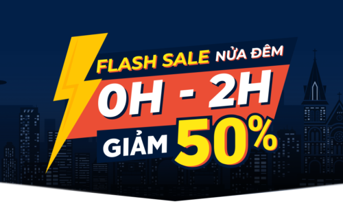 Flash Sale nửa đêm 0h-2h Giảm 50% 11