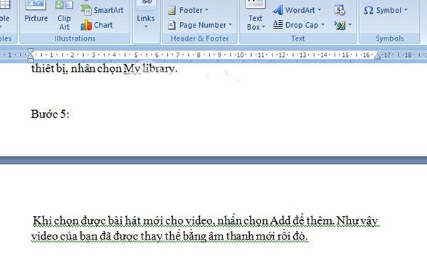 Bôi đen và xoá các kí tự ngắt đoạn để xoá trang trong Word