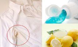 Cách tẩy vết ố vàng trên nách áo với chanh và kem đánh răng