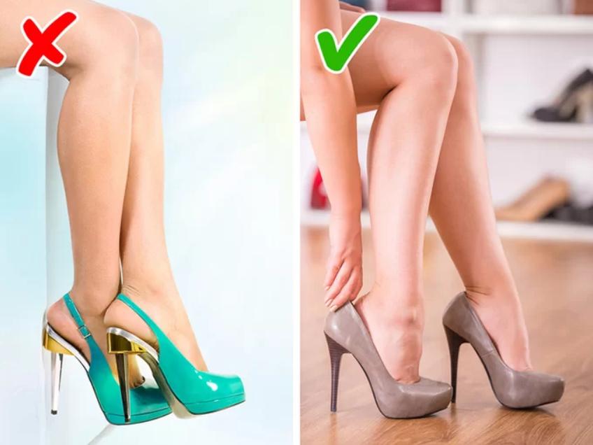 Chọn giày cao gót có kích thước vừa vặn với đôi chân