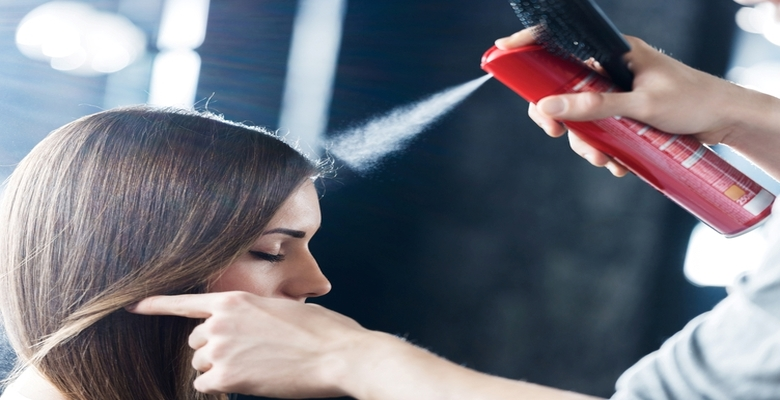 Instructions for using hair sprays properly