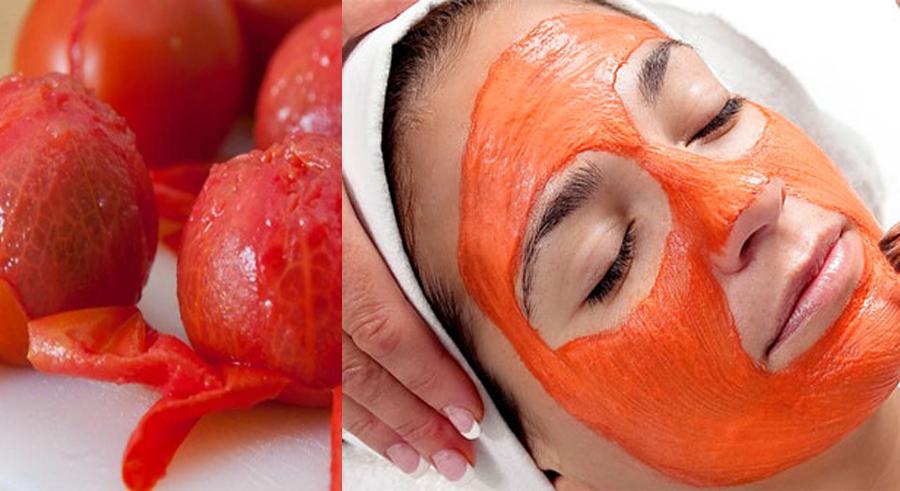 Cách làm se khít lỗ chân lông - Đắp mặt nạ cà chua