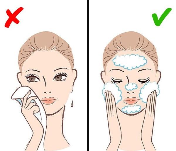 Lỗ chân lông to do chăm sóc da không đúng cách