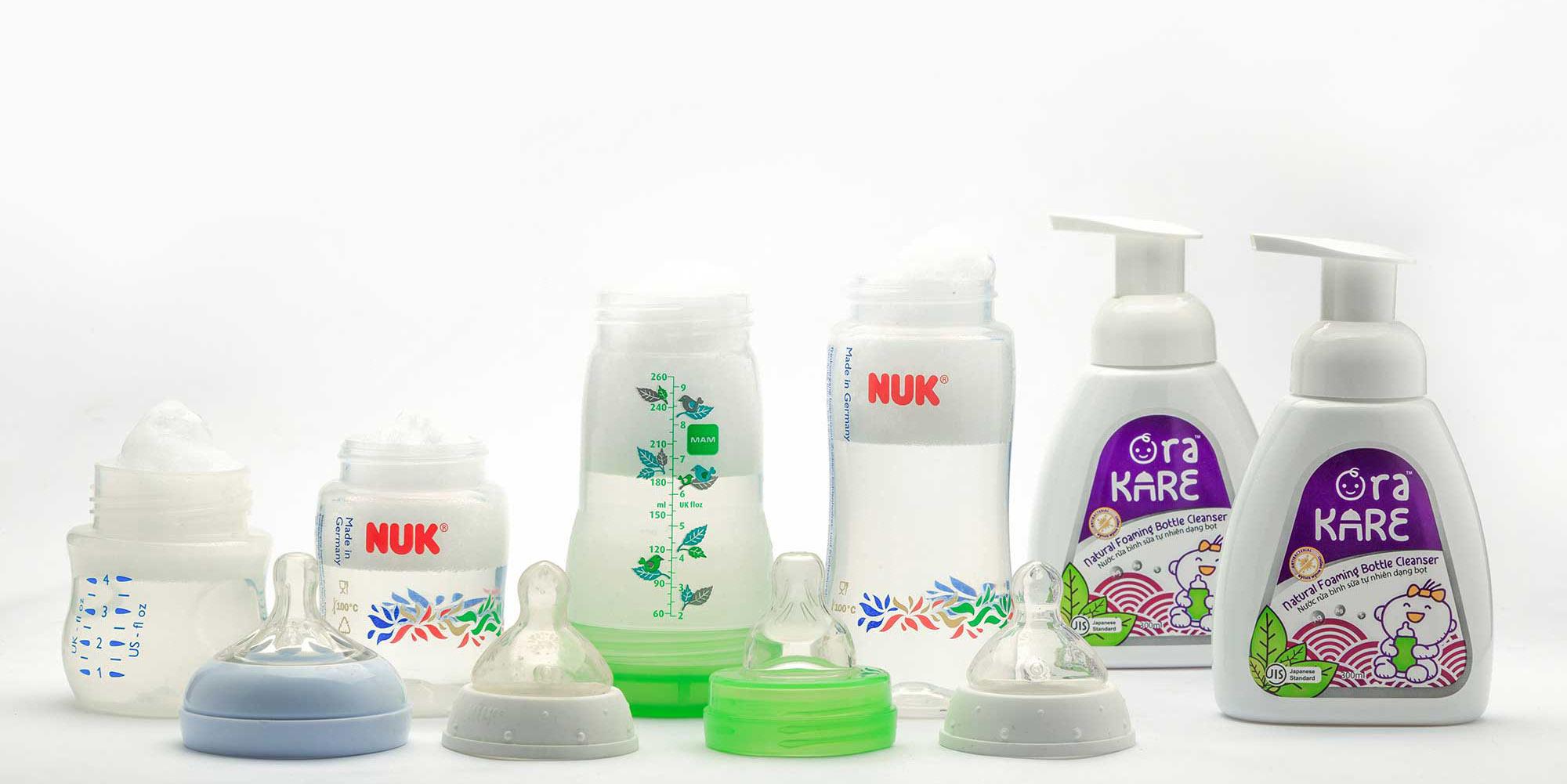 Tiêu chí chọn mua nước rửa bình sữa cho bé
