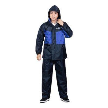 Áo mưa Aomua123 bộ vải dù 2 lớp chống mưa và chống lạnh