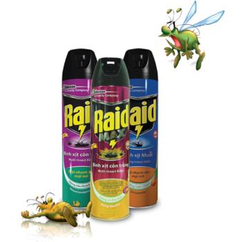 Bình xịt muỗi côn trùng Raid