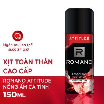 Xịt khử mùi toàn thân cho Nam Romano Attitude