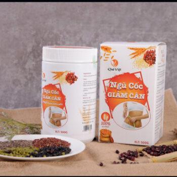 Bột ngũ cốc hỗ trợ giảm cân Quê Việt