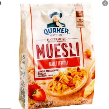 Ngũ Cốc Yến Mạch Ăn Sáng Đủ Loại Trái Cây Quaker Muesli