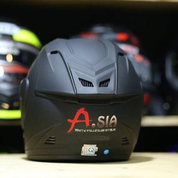 Mũ bảo hiểm 3/4 Asia M115 kính gương