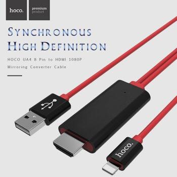 Cáp HDMI Kết Nối Iphone, Ipad Với Tivi HOCO UA4